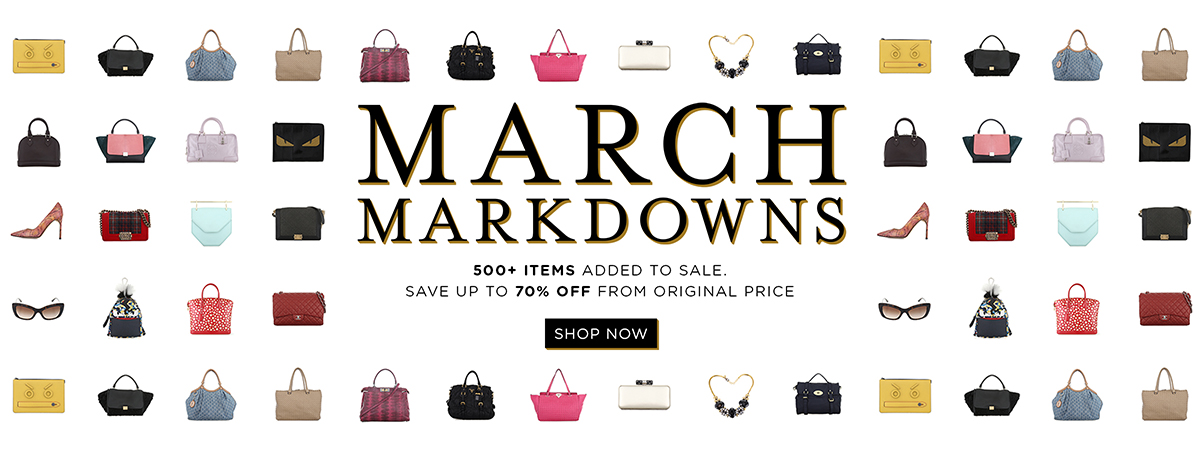 SALE: March Markdowns