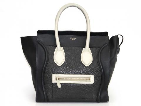 886510f759 Sell Céline Mini Luggage Tote in Black and Grey - Black Dark Grey ...