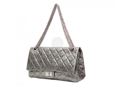680aa6ada4f5 ... Chanel Metallic 2.55 Reissue Quilted Classic 228 Flap Bag - Silver.  PrevNext