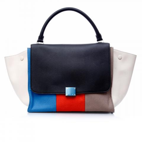 8fadcd7f75a2 Sell Céline Medium Colorblock Trapeze Bag - Black Blue Beige Cream Orange