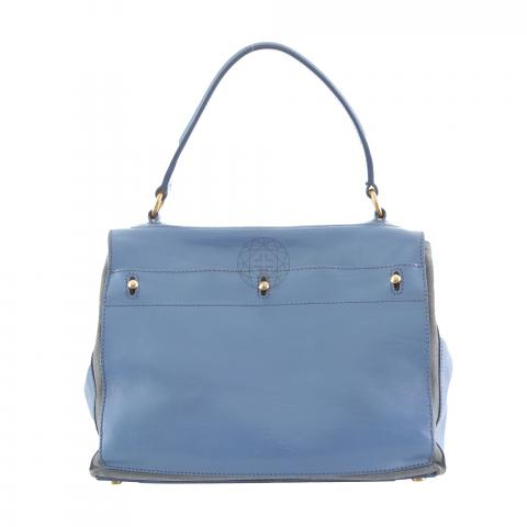Sell Yves Saint Laurent Muse II Leather Handbag - Blue  cbe41b1e32f8c