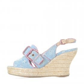 27d61835c973 Sell Louis Vuitton Capricieuse Wedge - White
