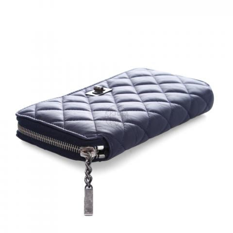 de6004a1f775 ... Chanel Zippy Quilted Mademoiselle Wallet - Navy Blue. PrevNext