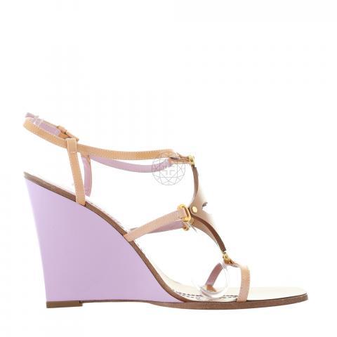 ed7a6eeb38f5 ... Shoes  Louis Vuitton Capricieuse Wedge Sandal - Light Brown. PrevNext
