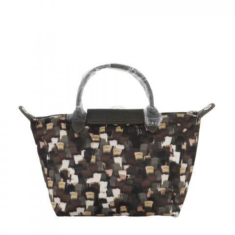951075d54e3 ... Longchamp Small Le Pliage Neo Vibration SH Bag - Black/Brown/Multicolor.  PrevNext