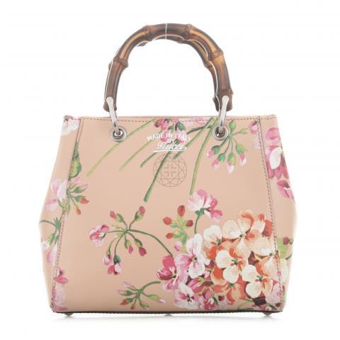 3dd7f545a88e Sell Gucci Mini Blooms Bamboo Shopper - Nude | HuntStreet.com