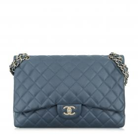 fbb80b87d33 Sell Chanel Quilted Lambskin Jumbo Double Flap Bag - Blue ...
